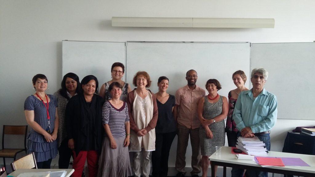 Lauréat du DUFA 2016, 1ère session de soutenance avec le jury et Alice Lagrega de Paris